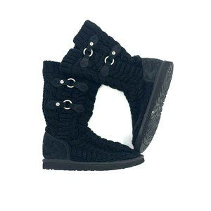 UGG Australia Tularosa Knit Boots Womens 6 Black